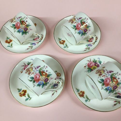 George Jones - Crescent Pottery - Coffee Duo x 4 - 1937